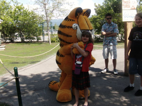 Seppy with Garfield @ Silverwood