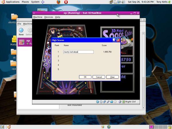 win XP pinball on Ubuntu