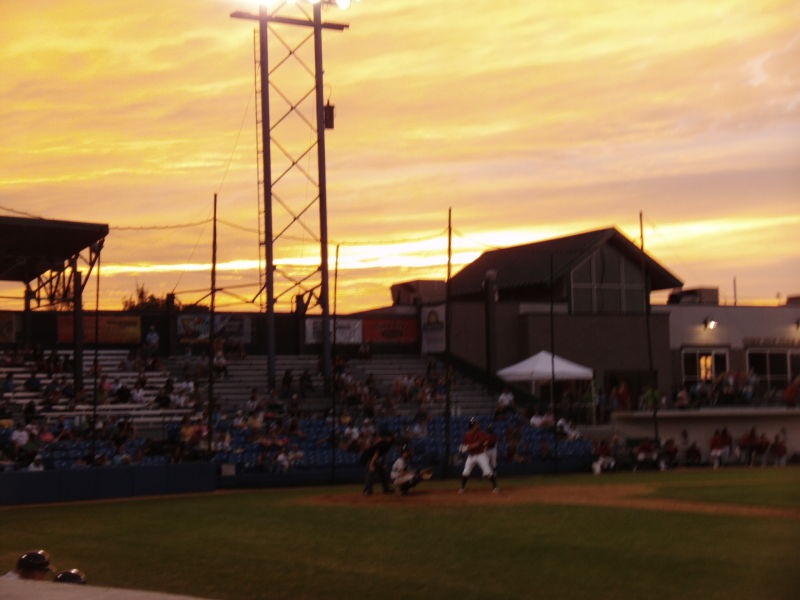 Sunset over Centene Stadium