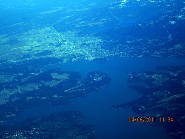 Lake Coeur D'Alene (from 25,000 feet)