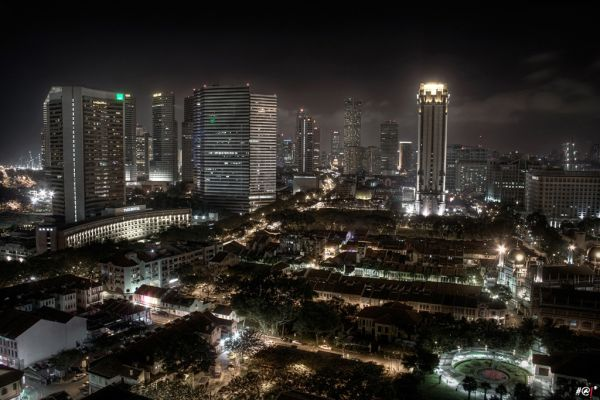 HDR night view of the Arabic sector, Singapore