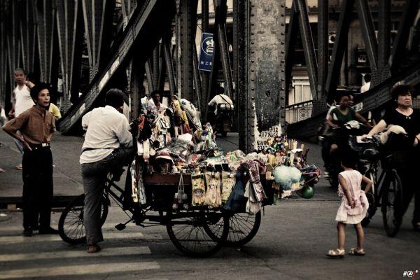 shanghai street urban people photo