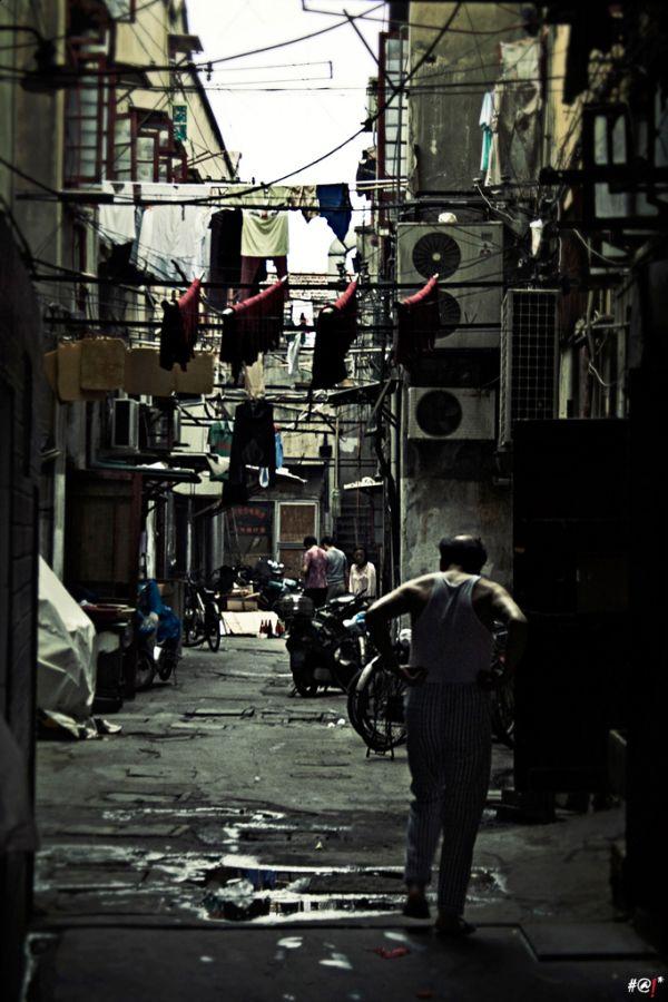 Alleyways of Shanghai, people, lifestyle