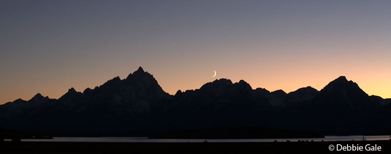 Sunset over Crescent Moon