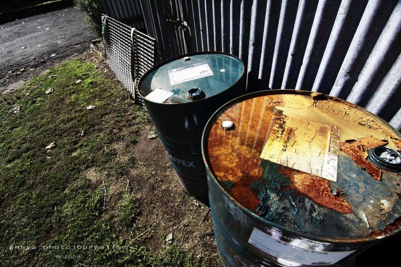 Oil drums Rural