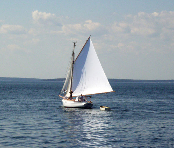 Sail Boat in Maine