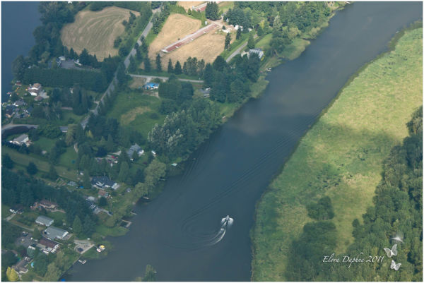 fraser river aerial photography