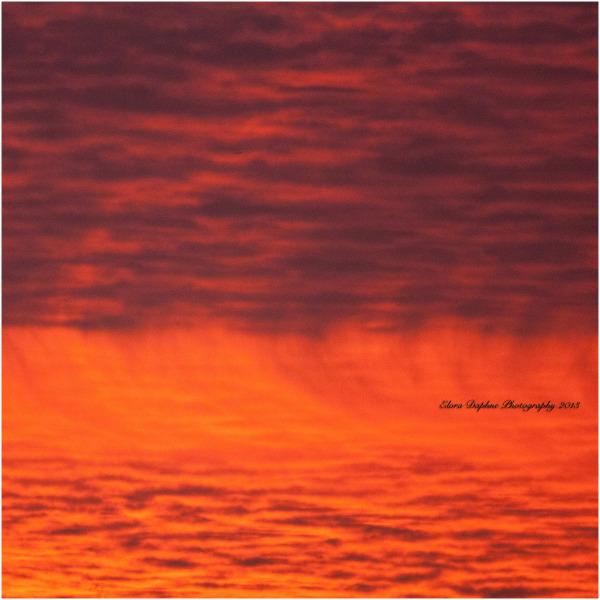 clouds sunset fire