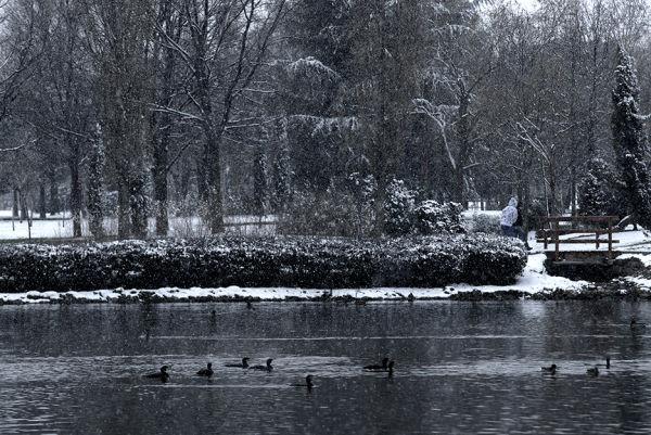 Snow on Madrid