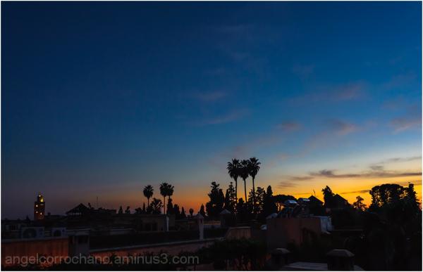 Tomada minutos antes del ocaso en Marrakech