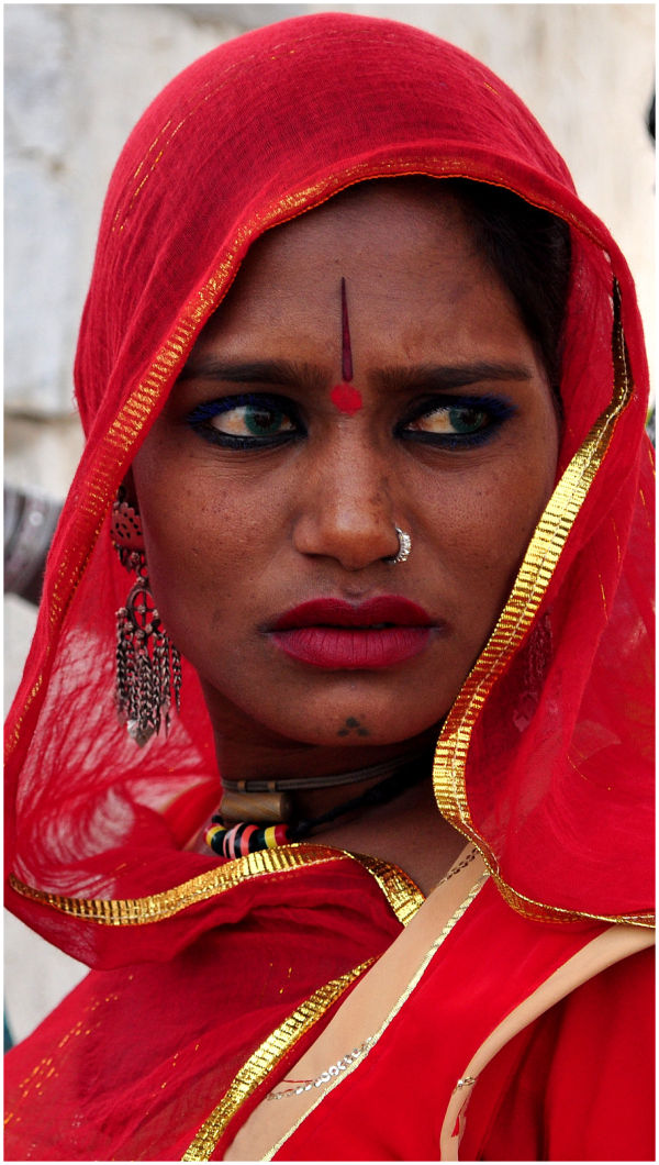 a woman in rajasthan