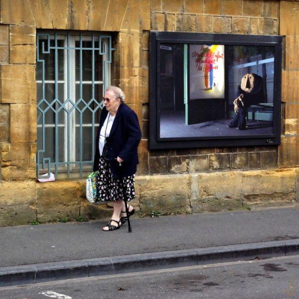 La femme pressée...
