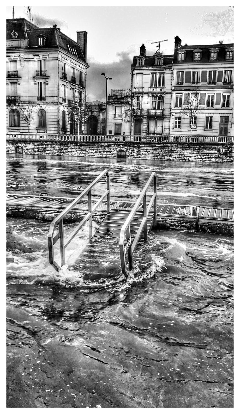 Une ville inondée