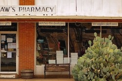 pharmacy on the square at Crowell Texas
