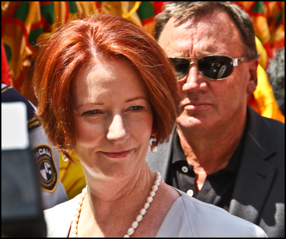 Big Red: Australian Prime Minister Julia Gillard