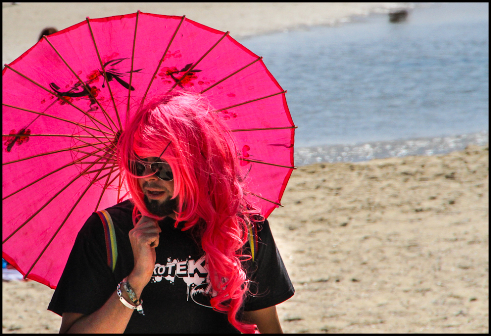Pride March. Fighting skin cancer.