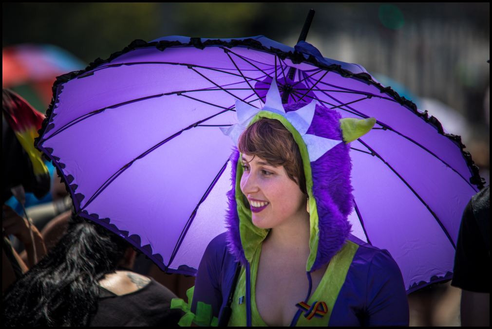 Portrait in Purple