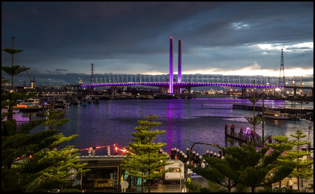 Bolte Bridge....... in purple