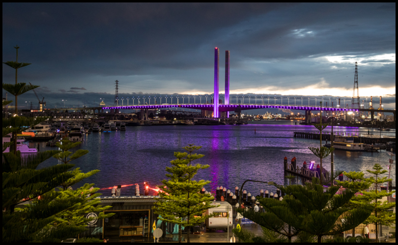 Bolte Bridge....... in purple