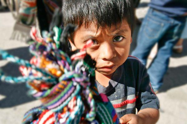 child made street vendor