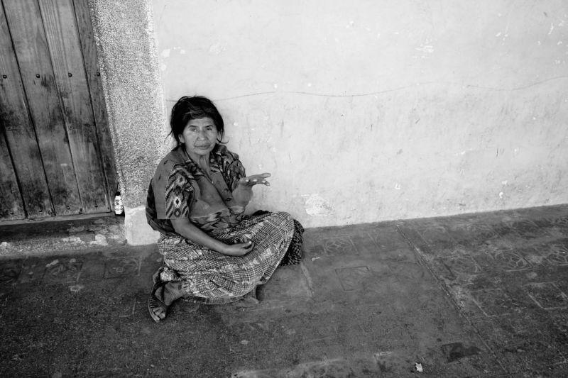 beggar woman Antigua Guatemala
