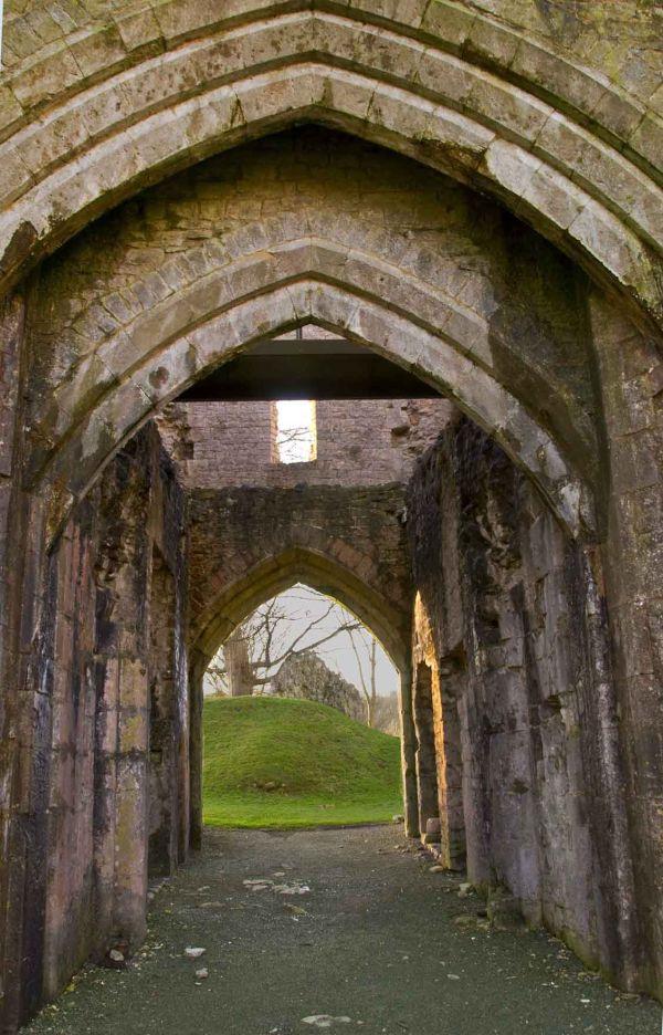 Llanblethian castle (front of gatehouse)