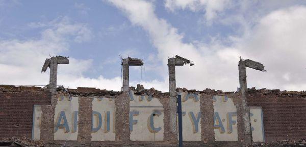 Ninan Park Grandstand Demolition - old sign