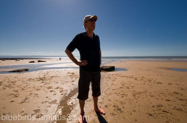 Traeth Mawr - Tony admiring the View