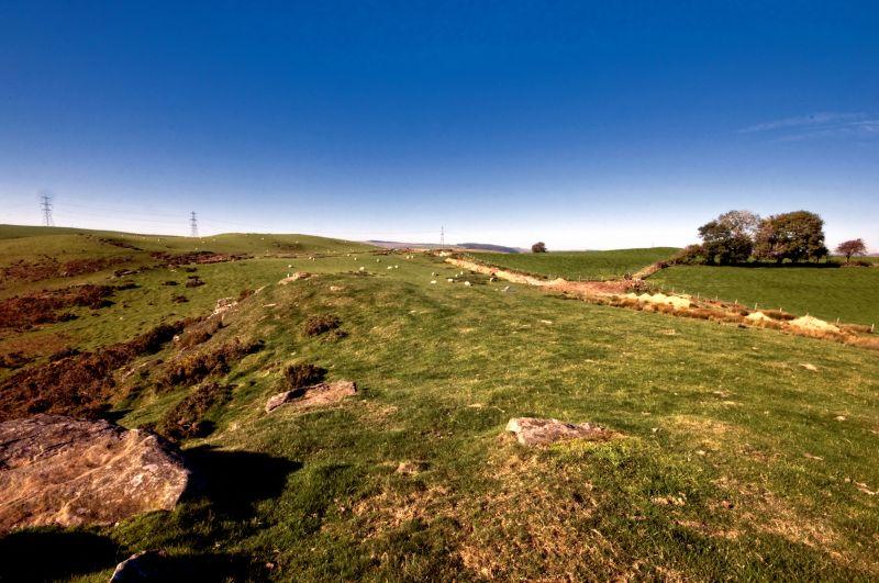 View of Hills above Llanharan - alternative
