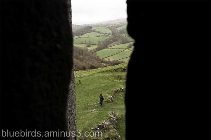 Carreg Cennen Castle - View from Arrowslit