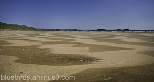 Rhossili Beach - sand patterns