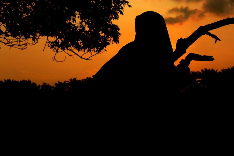 Silhouette at Serdang