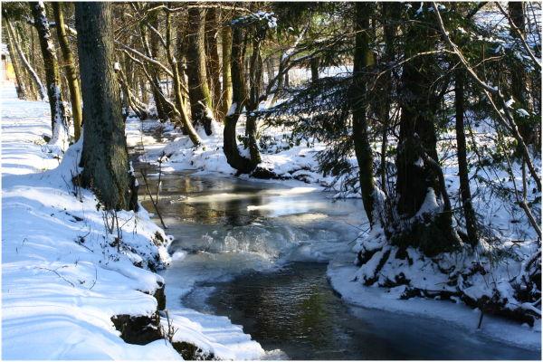 Ruisseau et glace