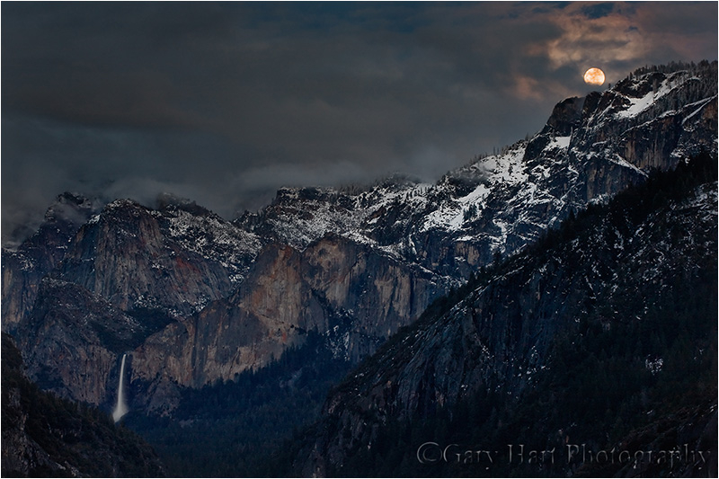 Bridalveil Fall by moonlight
