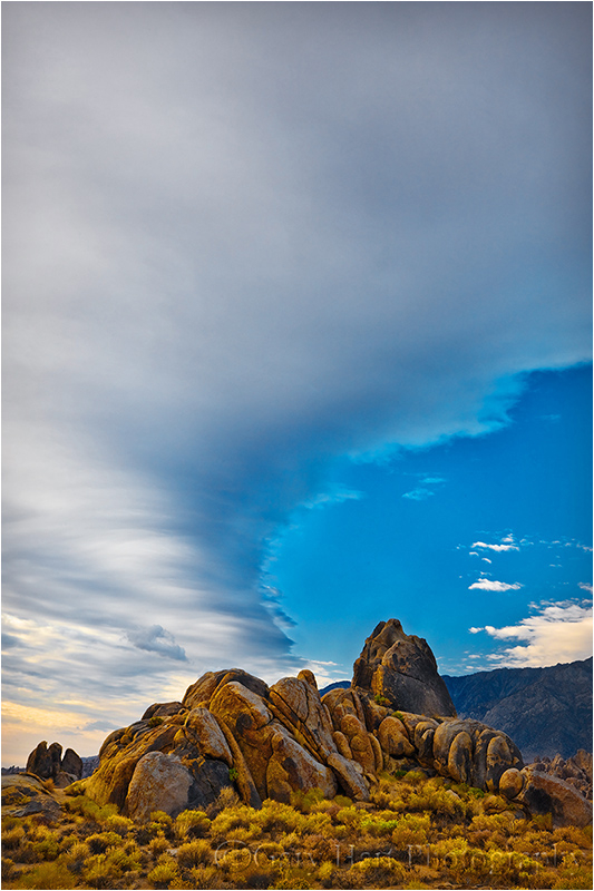 Cloud above the Eastern Sierra's Alabama Hills