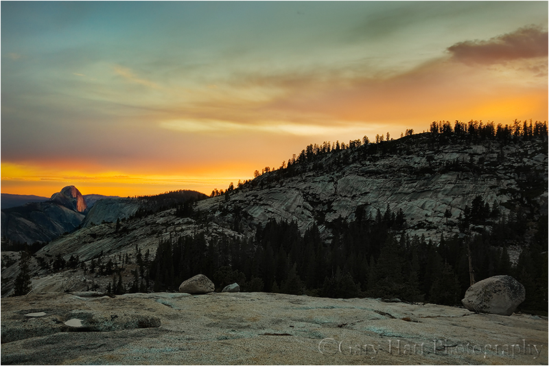 Half Dome at sunset from Olmsted Point, Yosemite