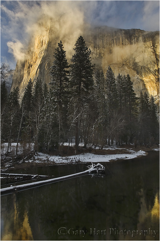 Clearing storm and late light on El Capitan