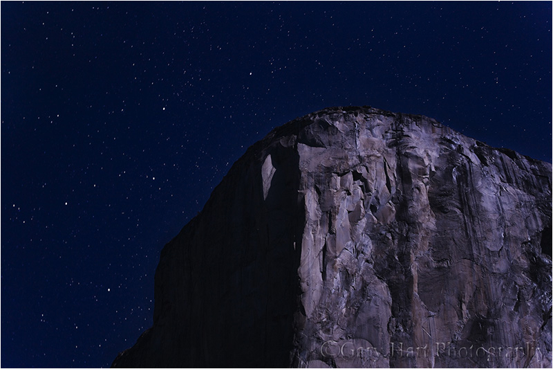 Cassiopeia hangs above El Capitan