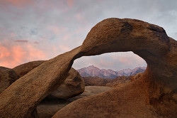 Mt. Whitney through the arch at sunrise