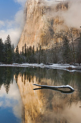 Clearing winter storm reveals El Capitan