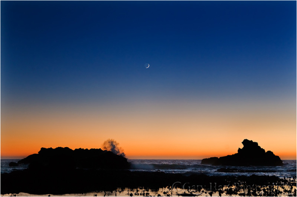 Setting Crescent, Shell Beach, Sonoma Coast