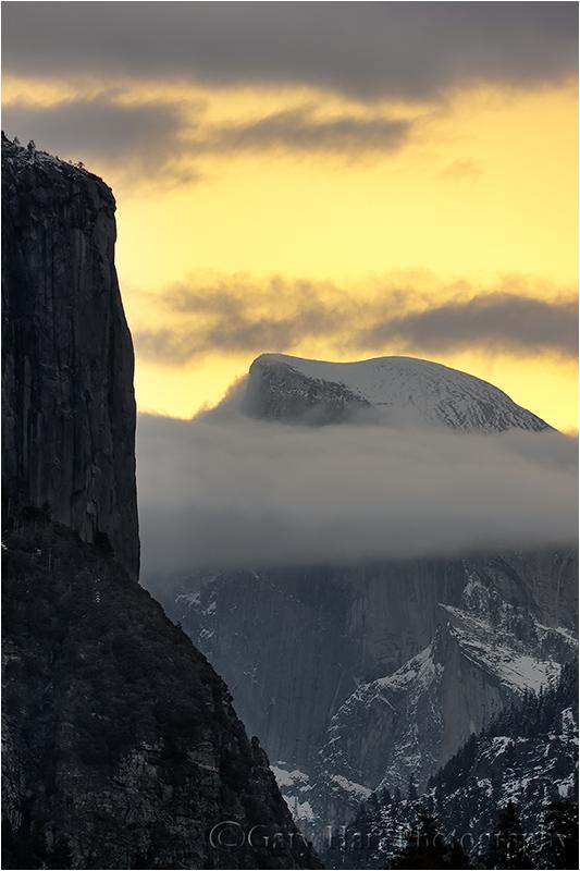 Half Dome and El Capitan at Dawn