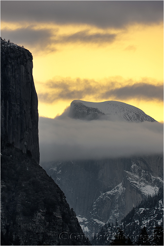 Half Dome and El Capitan at Dawn