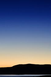 Sunrise crescent rising above Mono Lake