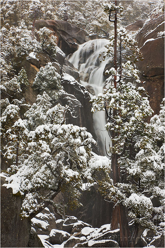 Cascade Creek with fresh snow, Yosemite