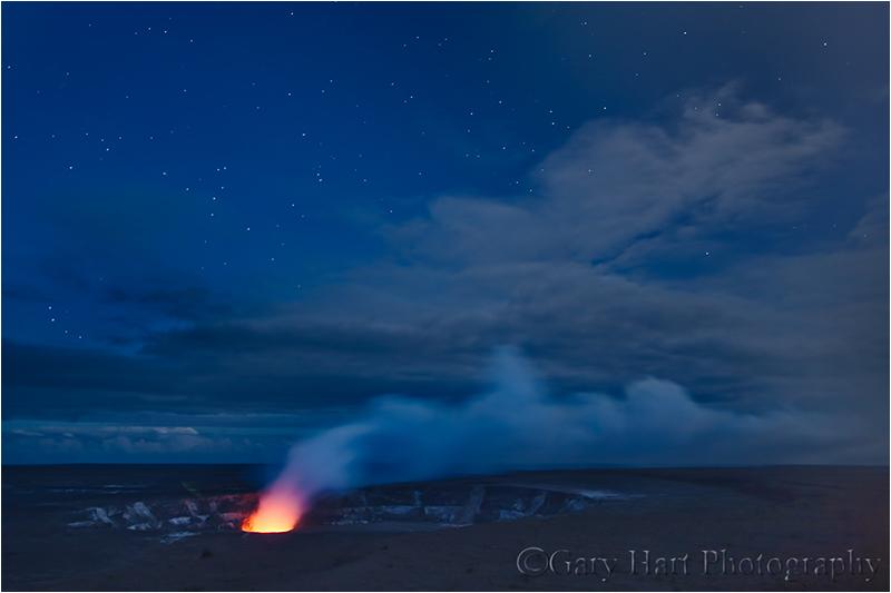 Kilauea beneath the stars, Hawaii
