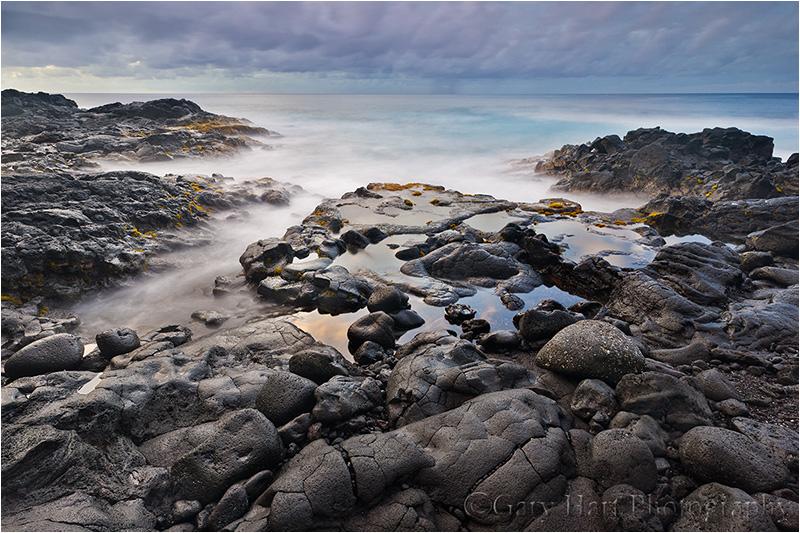 Sunrise on the Rocks, Puna coast, Hawaii