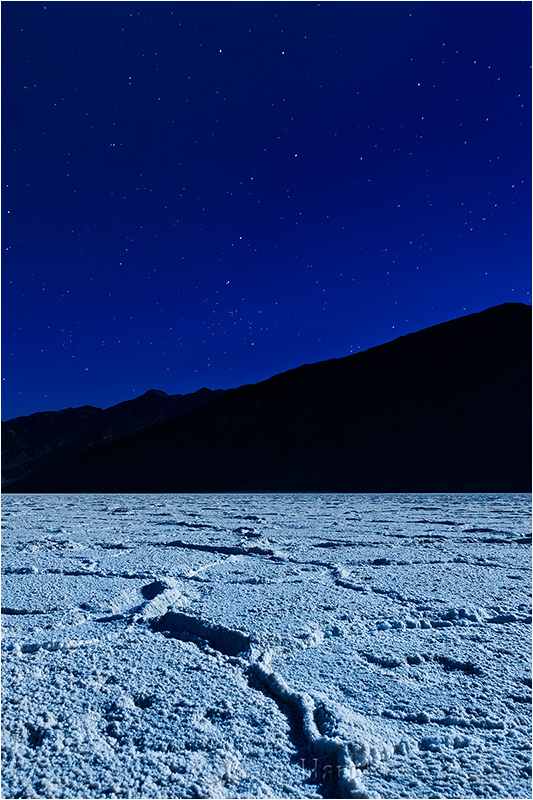 Big Dipper and Moonlight, Badwater, Death Valley