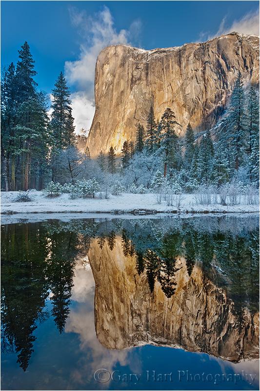 Reflection, El Capitan winter morning, Yosemite