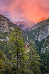 Red Veil, Bridalveil Fall, Yosemite